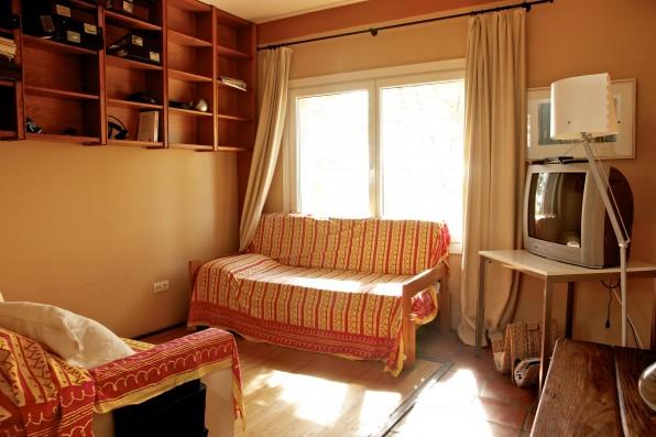 Cortijo Oropesa: Sala estar/Sitting room Casa Marrón