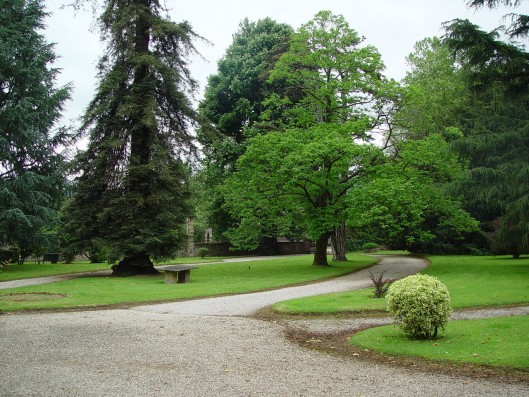 Casa Corrales: entrance to garden