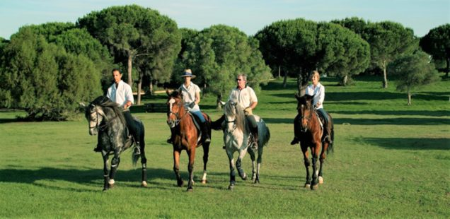 Casa Vejer: horse riding at the Montenmedio Golf & Country Club