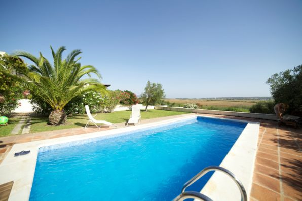 Casa Vejer: swimming pool with views of Barbate valley