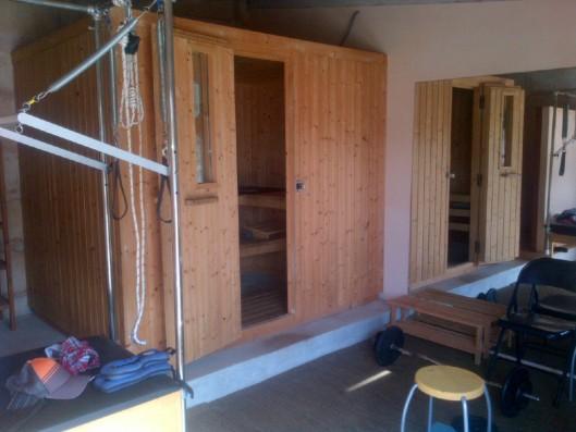 Casa Porreres: Sauna and gym