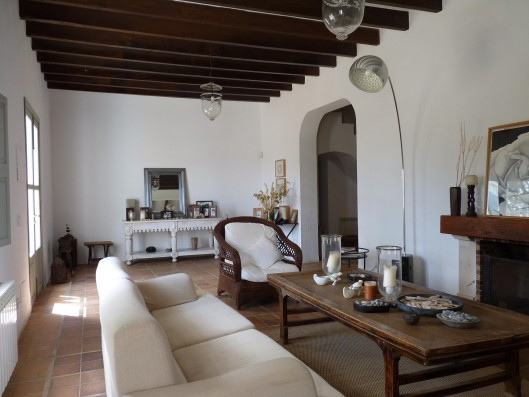 Casa Porreres: Living-room
