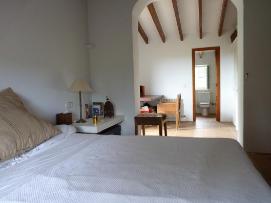 Casa Porreres: Master bedroom with bathroom first floor