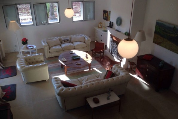 Casa Campos: living room from above