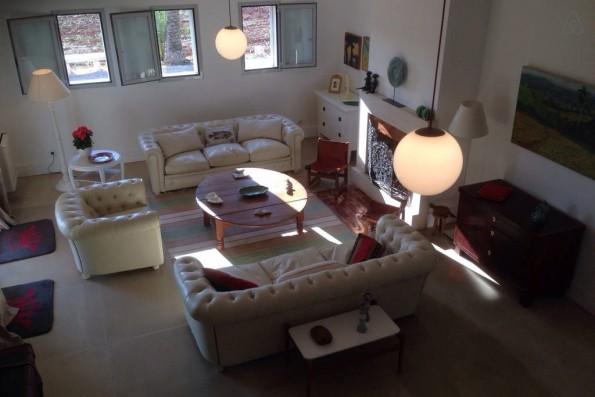 Casa Campos: salón desde arriba