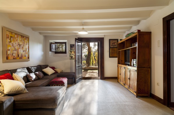 Casa Baltanás: family room with sleeping couch