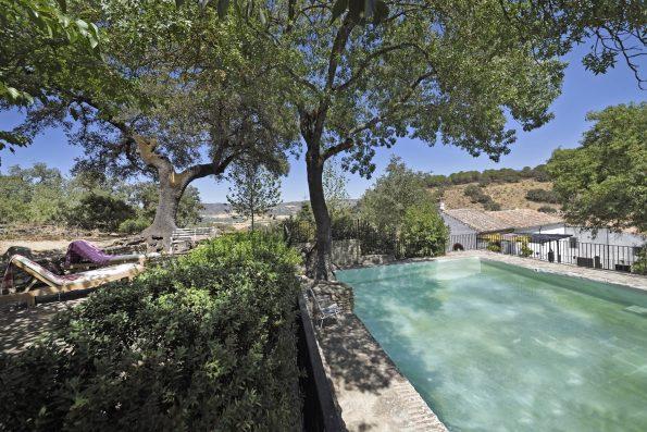 Casa Ronda: swimming pool and house