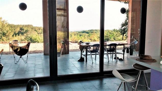 Casa La Vera Gredos: Terrace from living room