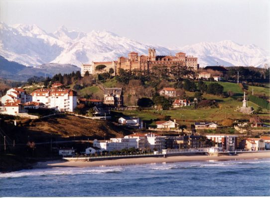 Casa Comillas: Comillas with Picos de Europa in the background