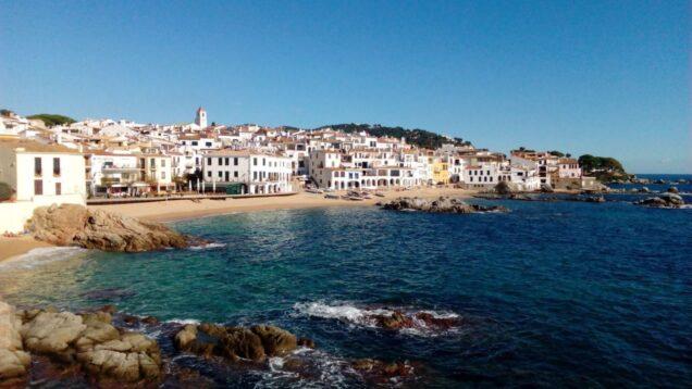 Mas Blau: beach at Calella de Palafrugell 24km